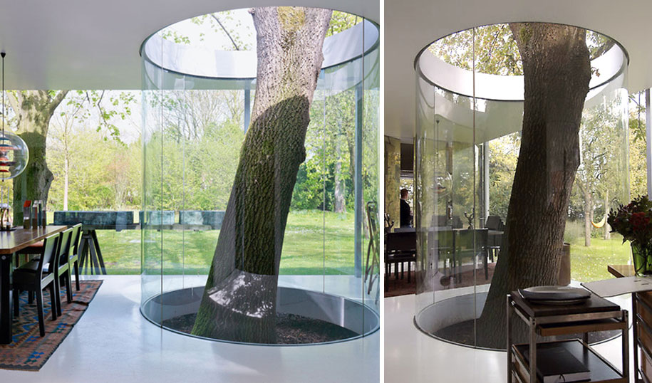 Bed sheets for architects - Combination Of Architecture And Nature Creative Tree