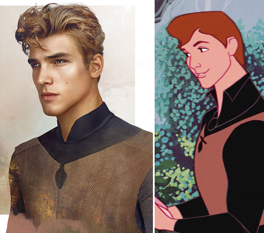 Real Life Illustrations Of Disney Princes By Finnish Artist And