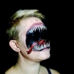 Impressively scary face painting works by self-taught artist