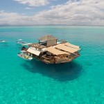 Spending your vacation on a floating bar surrounded by crystal clear blue waters of Fiji