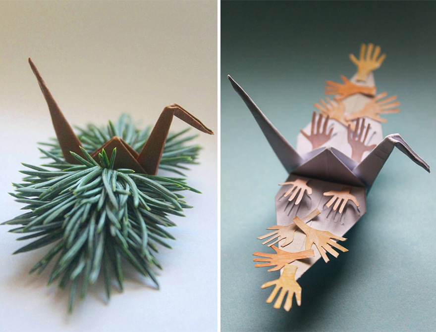 Beautiful Paper Folding Cranes By Origami Enthusiast Cristian
