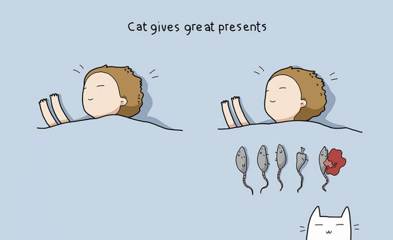 funny-amusing-humorous-comic-illustrations-pluses-benefits-having-cat (10)