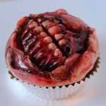 Creepy Halloween food – zombie mouth muffins