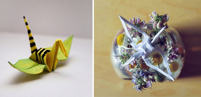 paper-folding-cranes-creative-origami-works