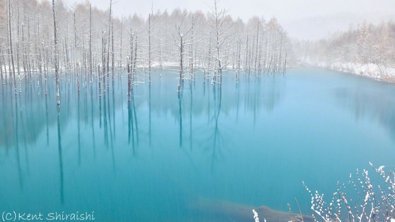 stunning-beautiful-Blue-Pond-snow-japan (14)