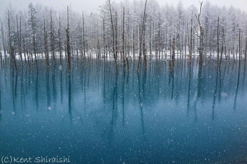 stunning-beautiful-Blue-Pond-snow-japan (9)