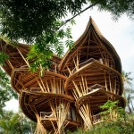 Sustainable structure made from bamboo in Bali