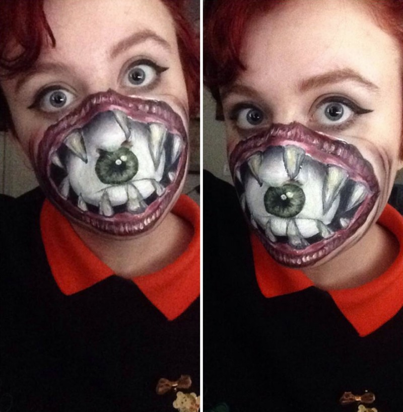 bizarre-horrible-makeup-face-painting-Hallowmas