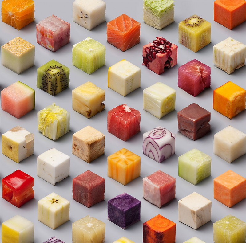 cutting-raw-food-cubes-art-projects
