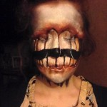 Face paintings of surreal or dark characters