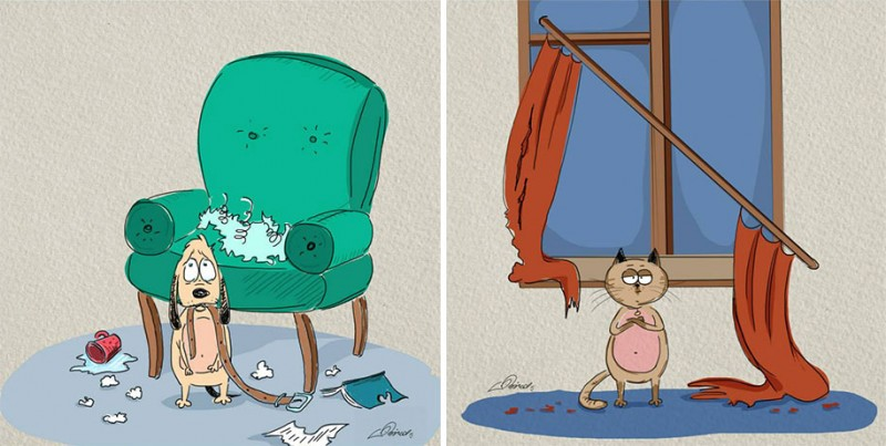 funny-comics-differences-cat-vs-dog-animals-pets-illustrations (1)