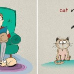 Comics by Russian artist shows 6 major differences between our beloved four-legged pets