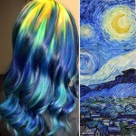 Hairstylist gets hair dying inspiration from classic paintings like the Scream or Starry Night