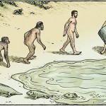 15 evolution cartoons combining satire and humor