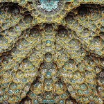 Amazing beauty of Iranian mosque ceilings