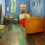 The Art Institute of Chicago recreated the room like Van Gogh's famous bedroom and rented it for 10 dollars