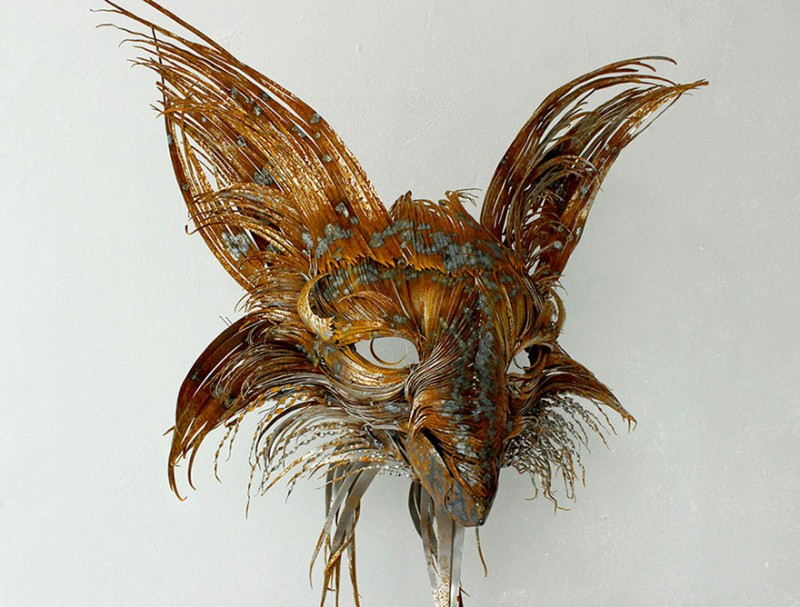 Animal-Masks-Hammered-steel-Scrap-Metal-sculptures (1)