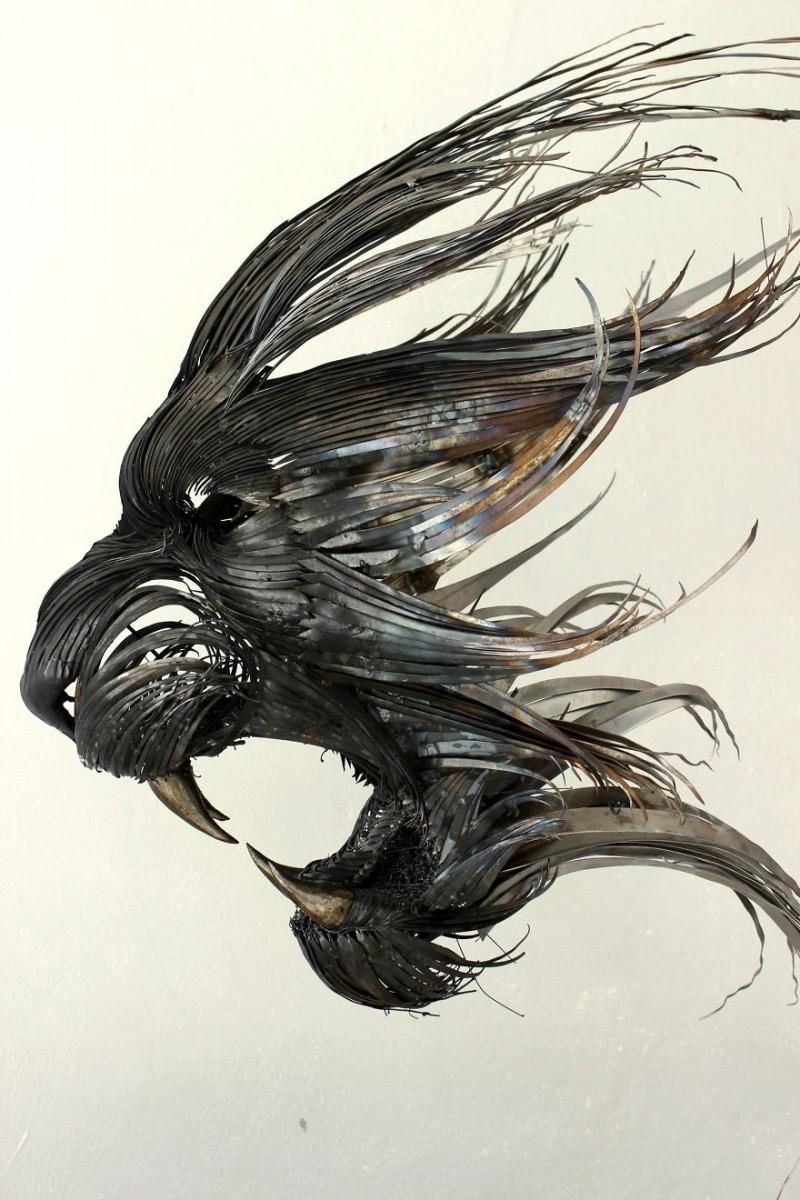 Animal-Masks-Hammered-steel-Scrap-Metal-sculptures (5)