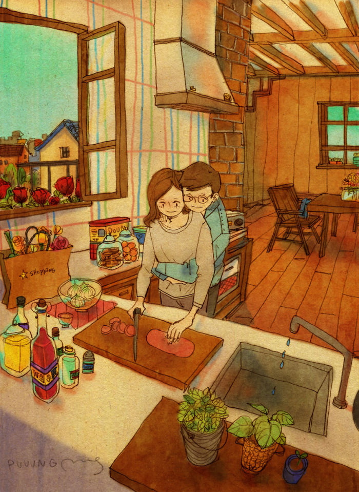 adorable-sweet-couple-romantic-love-illustrations-drawings (18)