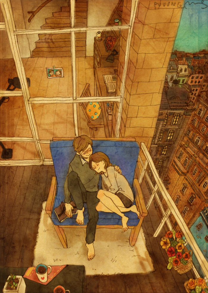 adorable-sweet-couple-romantic-love-illustrations-drawings (21)