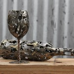 Beautiful sculptures made out of discarded keys and coins