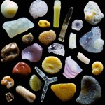 Amazingly sand world under microscope