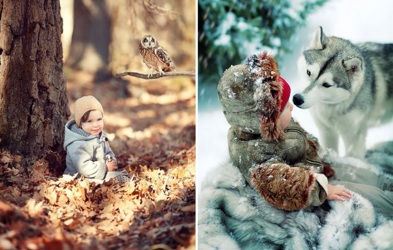 beautiful-winter-field-children-animal-playing-photographs (10)