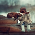 Rurally cute photoshoots of children and animals playing scenes taken by Russian photographer
