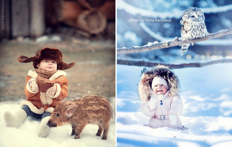 beautiful-winter-field-children-animal-playing-photographs (2)