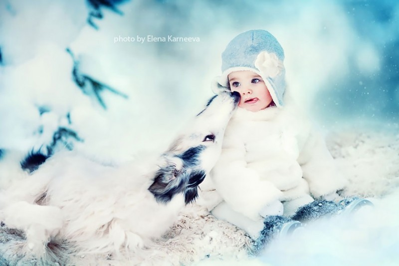 beautiful-winter-field-children-animal-playing-photographs (7)