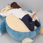 Stuffed Snorlax cushion that serves as the perfect place for a nap or brief rest