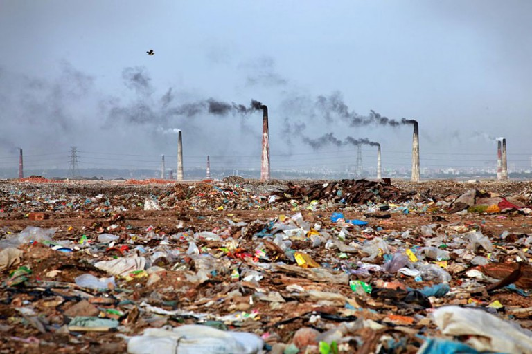 ecological crisis caused by overconsumption and