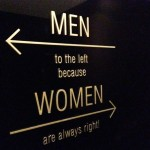Creatively impressive toilet signs
