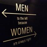 Creatively impressive toilet signs