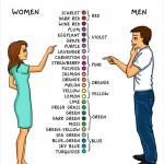 Illustrator draws 14 differences between men and women