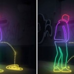 The wall that can pee back at public urinators