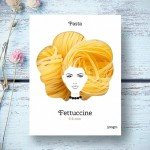 Funny pasta packaging that looks like a model's hair