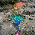 Art installations created from plastic and trash that wash up from 50 countries around the world mirroring ocean pollution
