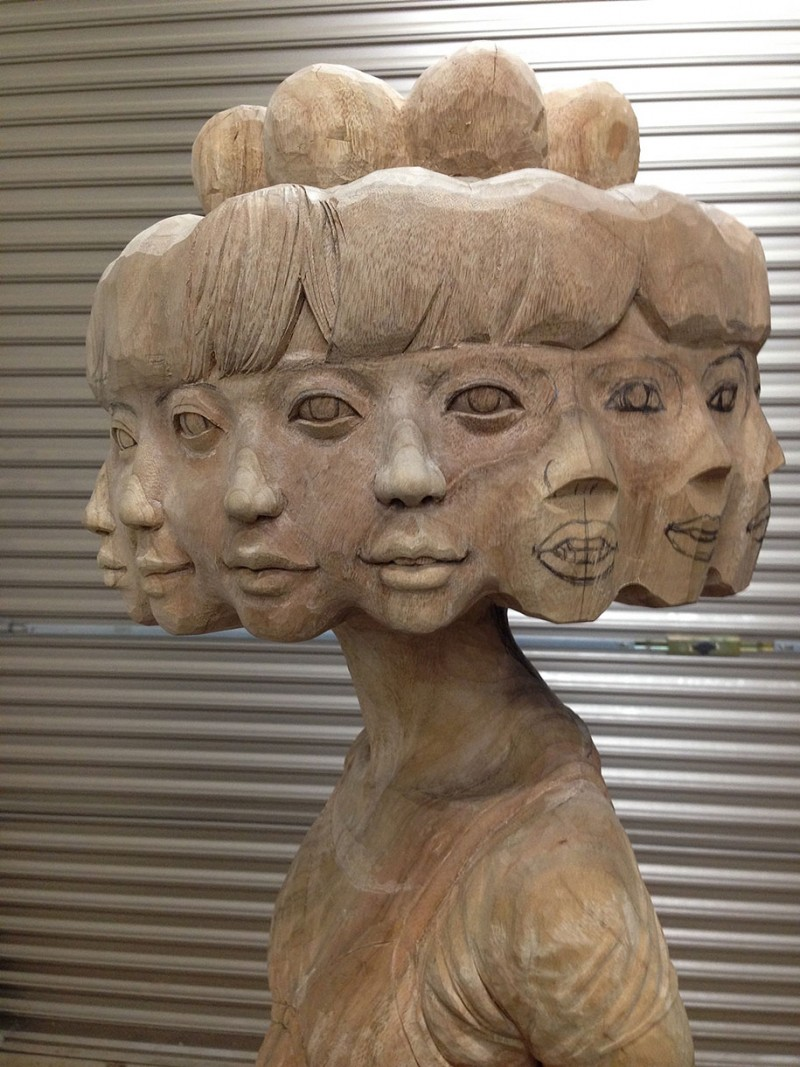 Weird Wooden Sculptures By Japanese Artist Vuing Com