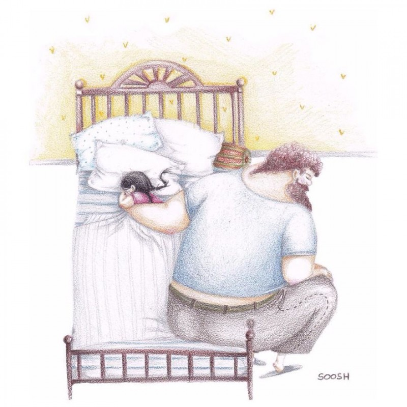Sweet-drawings-Love-Between-father-and-daughter