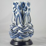 Intricately beautiful candle carving craft