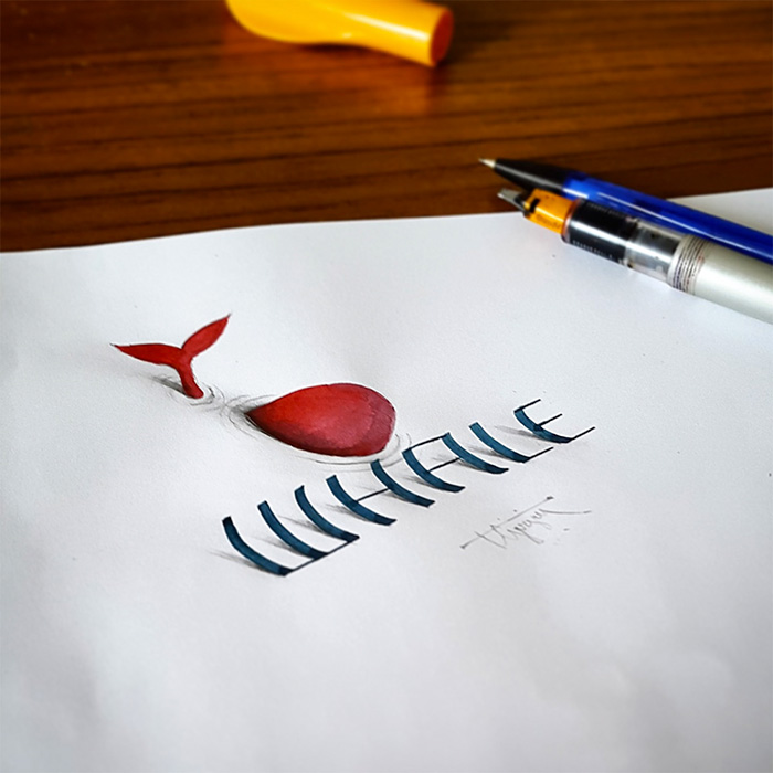 cool-text-3d-calligraphy-art