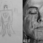 "Before and after drawings tell us ""practice makes perfect"""