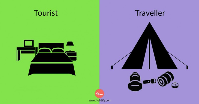 funny-illustration-differences-between-traveler-tourist