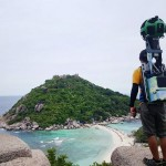 Thai triathlete carrying an 18kg 360 degree camera to capture untraveled places for Google Street View