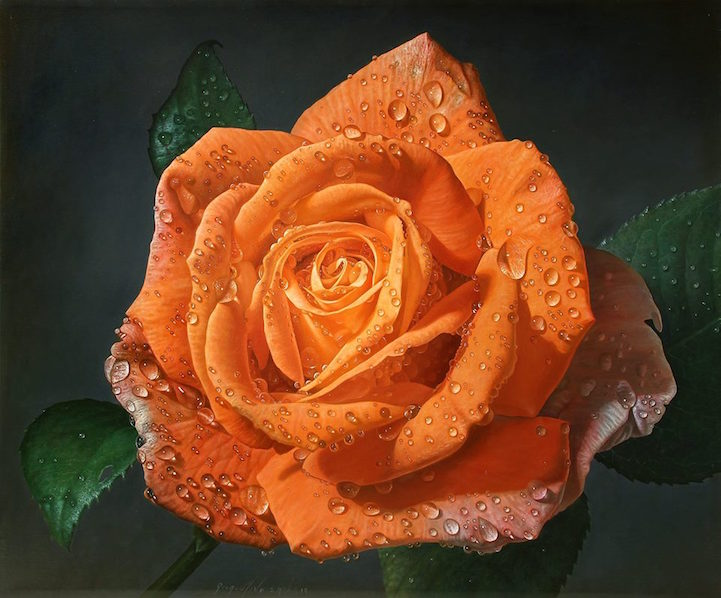 hyperrealism-art-Giant-Paintings-of-Roses-Dewdrops (2)