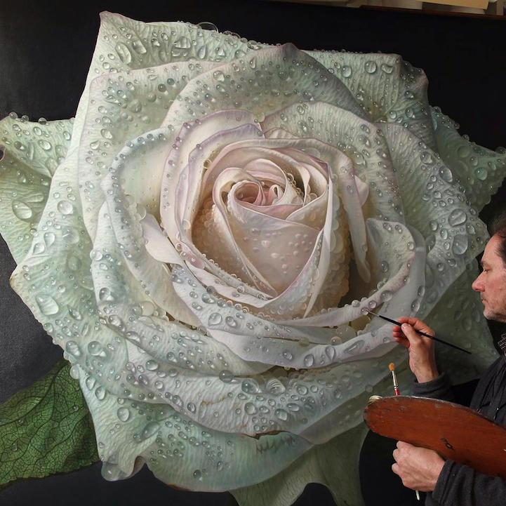 hyperrealism-art-Giant-Paintings-of-Roses-Dewdrops (4)