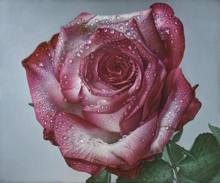 hyperrealism-art-Giant-Paintings-of-Roses-Dewdrops (8)