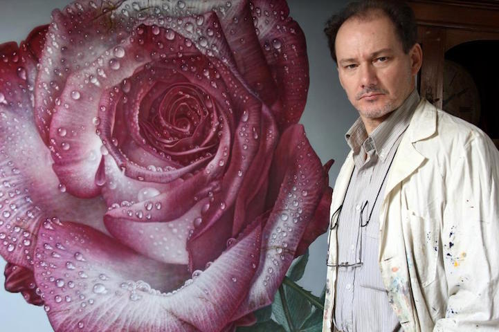 hyperrealism-art-Giant-Paintings-of-Roses-Dewdrops (9)