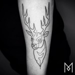 Minimalist One Continuous Line Tattoos Iranian-German Artist